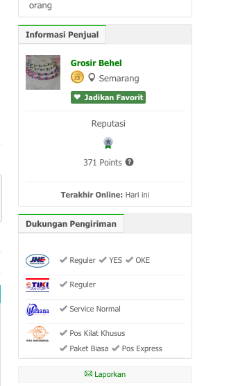 dropship tokopedia