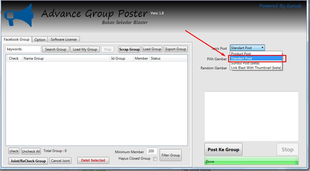 Mengenal Jenis Post Software Advance Group Poster Berdasarkan Fungsinya