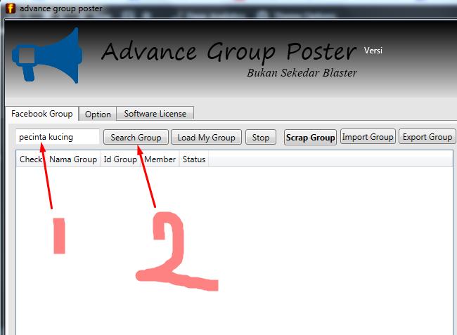 Tips mencari super targeted group menggunakan software advance group poster
