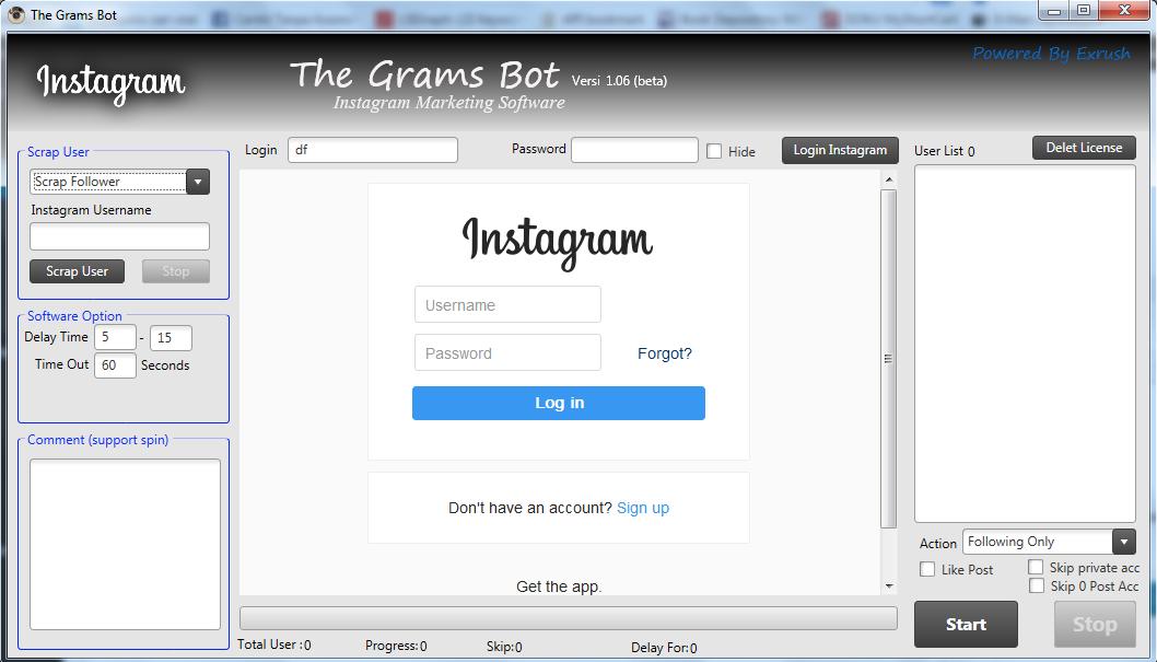 The Gram Bot Update V 1.06 Dengan banyak fitur tambahan
