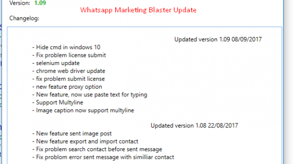 Whatsapp marketing blaster update versi 109